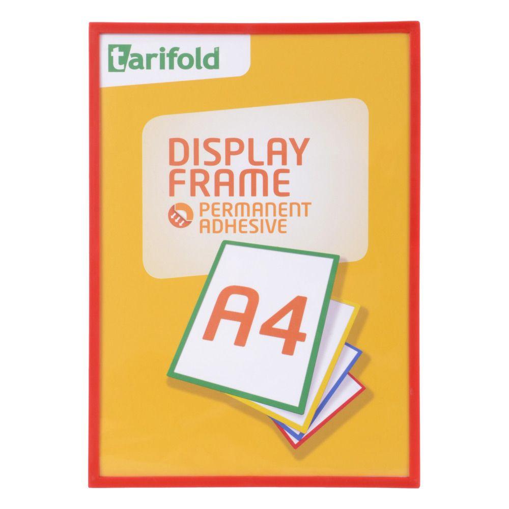 Samolepící rámeček Tarifold A4 (5ks), Červená