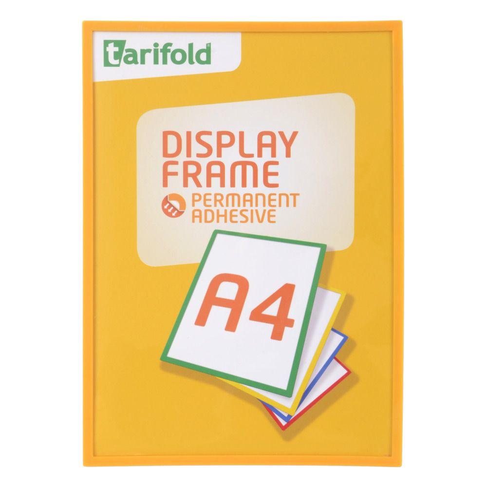 Samolepící rámeček Tarifold A4 (5ks), Žlutá