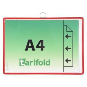 Závěsná kapsa Tarifold A4 na šířku s očkem - Červená