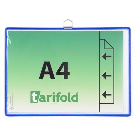 Závěsná kapsa Tarifold A4 na šířku s očkem - Modá