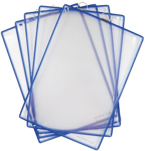 Závěsná kapsa Tarifold A4 na výšku s očkem - Modá