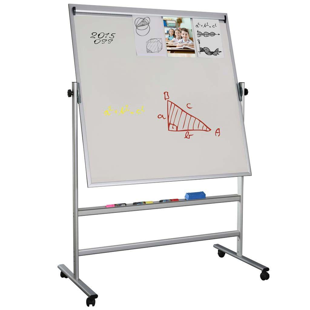 Otočná magnetická tabule s memo lištou 1200x1500 mm