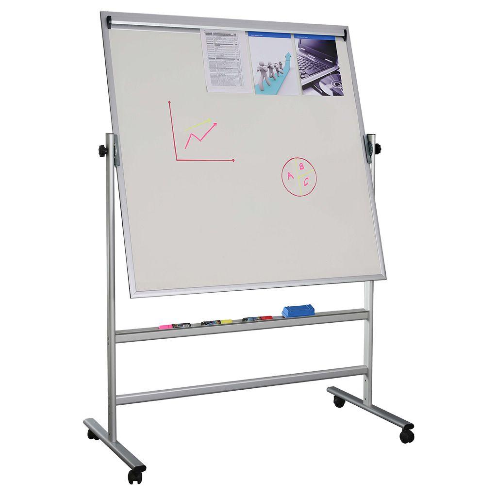 Otočná magnetická tabule s memo lištou 1200x900 mm