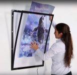 Tenký světelný rám Magneco Ledbox A2 - Stříbrný A-Z Reklama CZ
