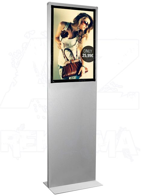 Prosvětlený plakátový Info stojan iPOINT Lumo B2 A-Z Reklama CZ
