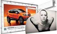 Systém rámů pro rozměrné bannerové reklamní plachty