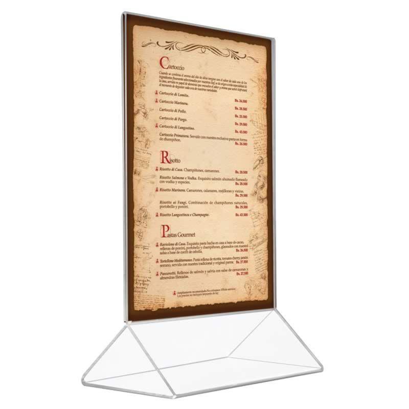 Delta menu akrylový stojánek na formát prospektu A4