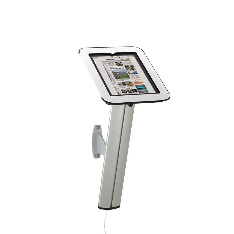 Držák pro iPad s uchycením na stěnu - Bílý