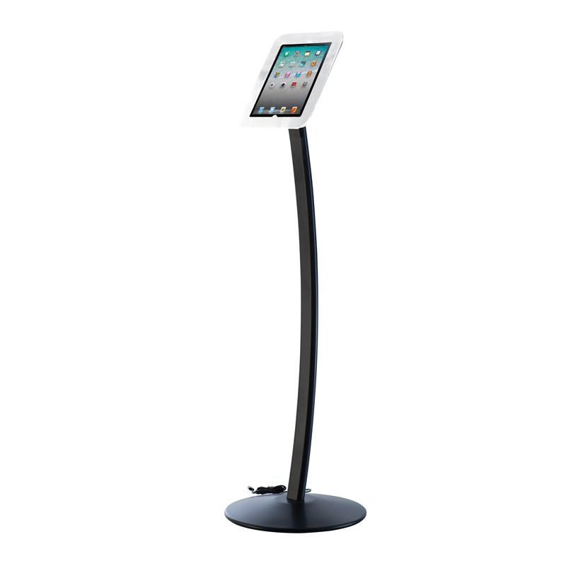 Podlahový stojan Flexible Curved Kiosk na iPad - Bílý