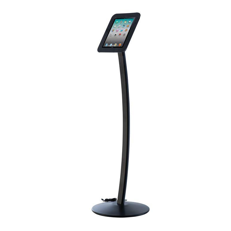 Podlahový stojan Flexible Curved Kiosk na iPad - Černý