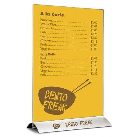 Swing menu stojánek se základnou A5 na výšku