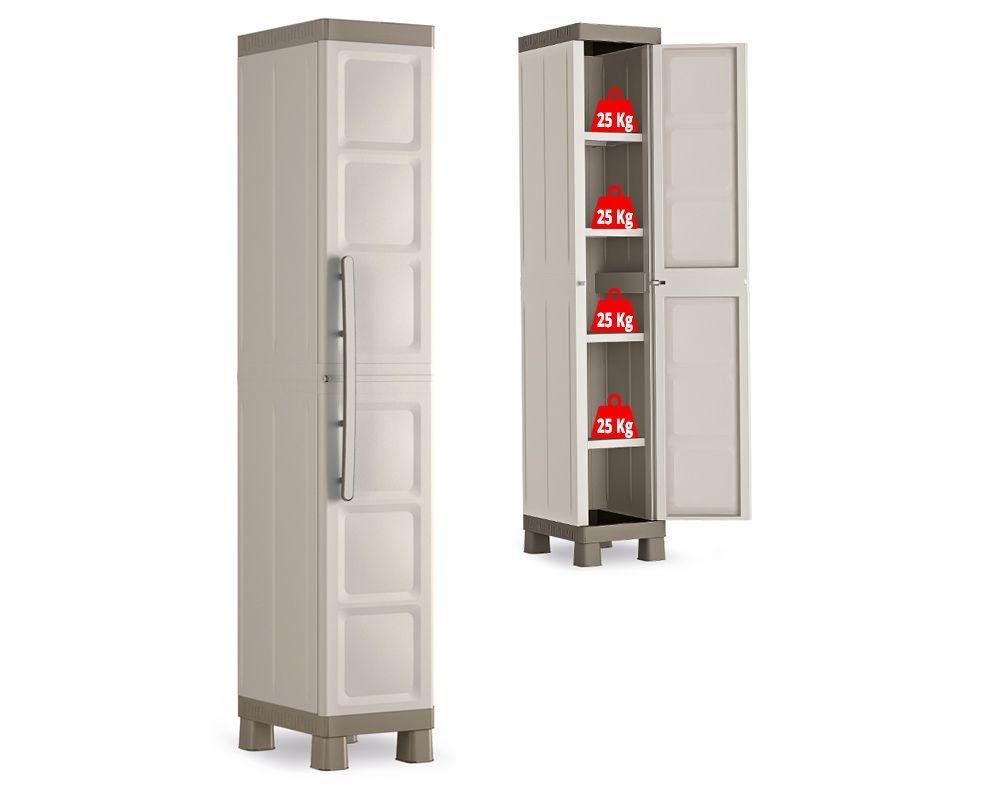 KIS Plastová skříň Excellence High Cabinet 1 dvéřová