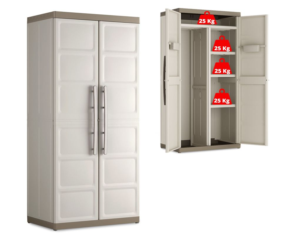 KIS Plastová úložná skříň Excellence Utility XL High Cabinet