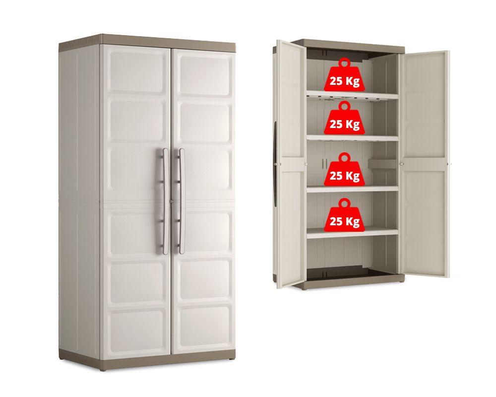 KIS Plastová úložná skříň Excellence XL High Cabinet