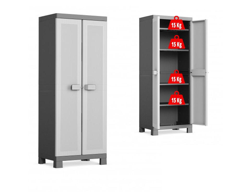KIS Plastová úložná skříň Logico High Cabinet
