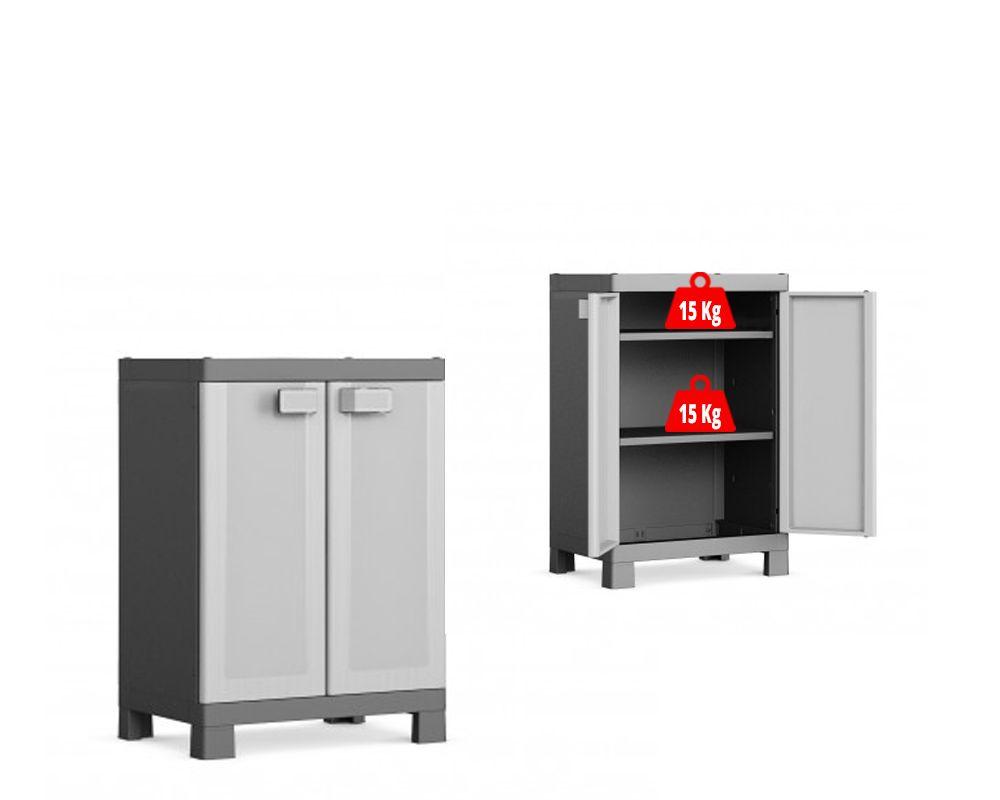 KIS Plastová úložná skříň Logico Low Cabinet