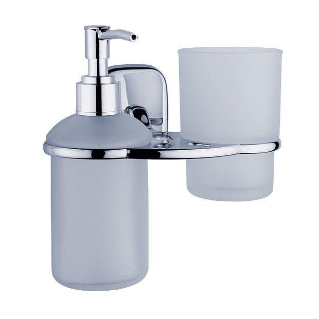 Dávkovač tekutého mýdla a držák sklenky - řada SIMONA