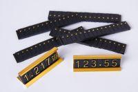 Doplňkový 3D symbol tečka - Zlatá