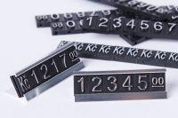 3D Cenovky sada Kč - Stříbrný prolis