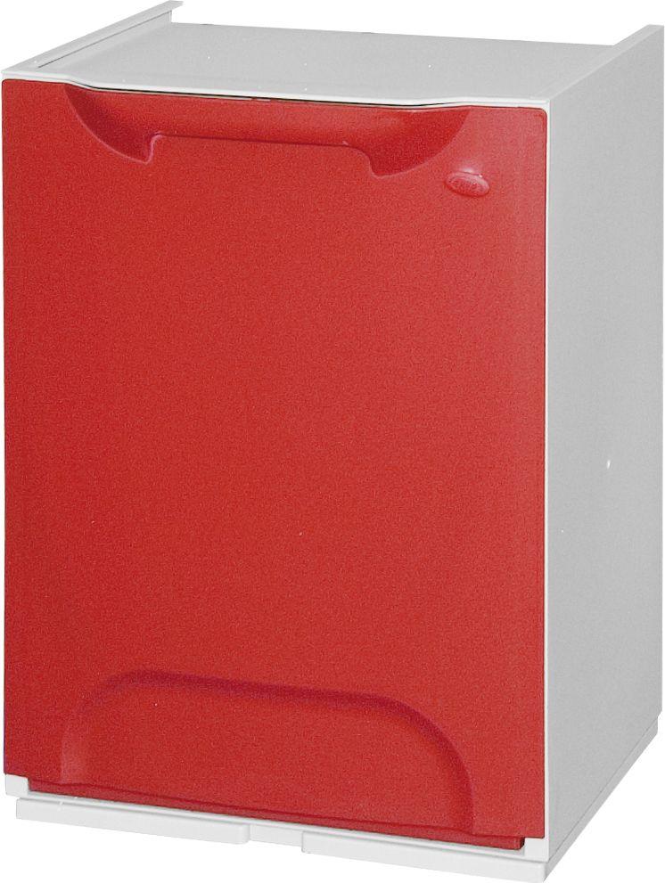 Plastový koš na tříděný odpad, Objem 14 litrů - červený