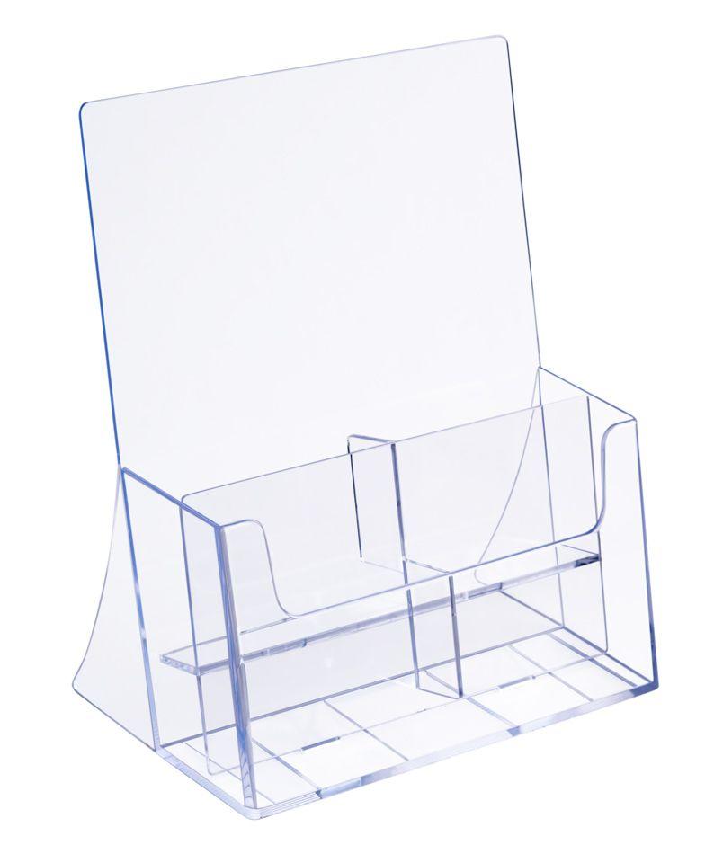 Plastový zásobník na letáky 4x DL 1/3A4 nebo 1x A4