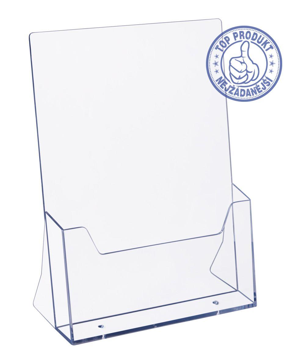 Plastový zásobník na letáky formátu A4 stojací