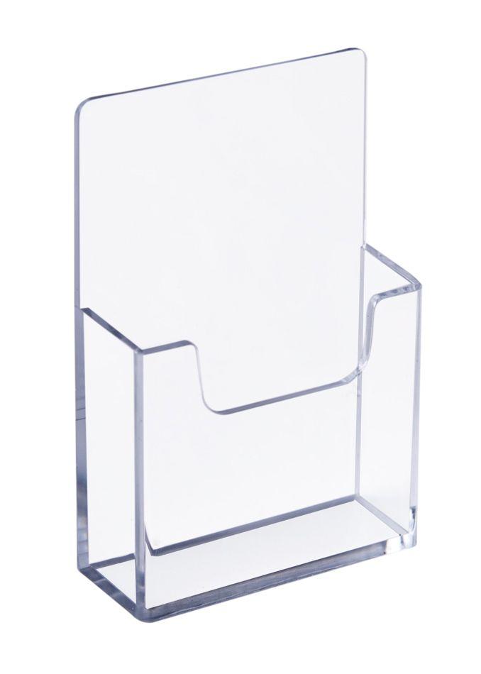 Plastový zásobník na vizitky na výšku na zeď