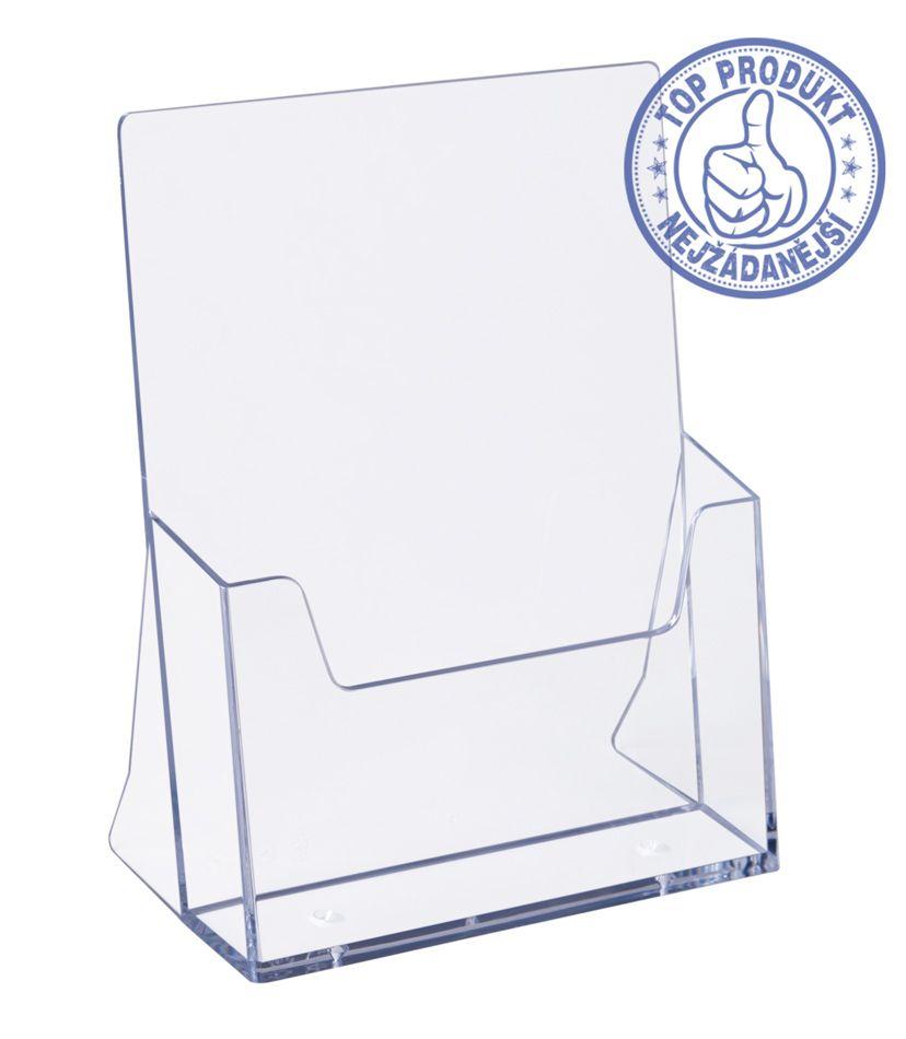 Plastový zásobník stojací na letáky formátu A5