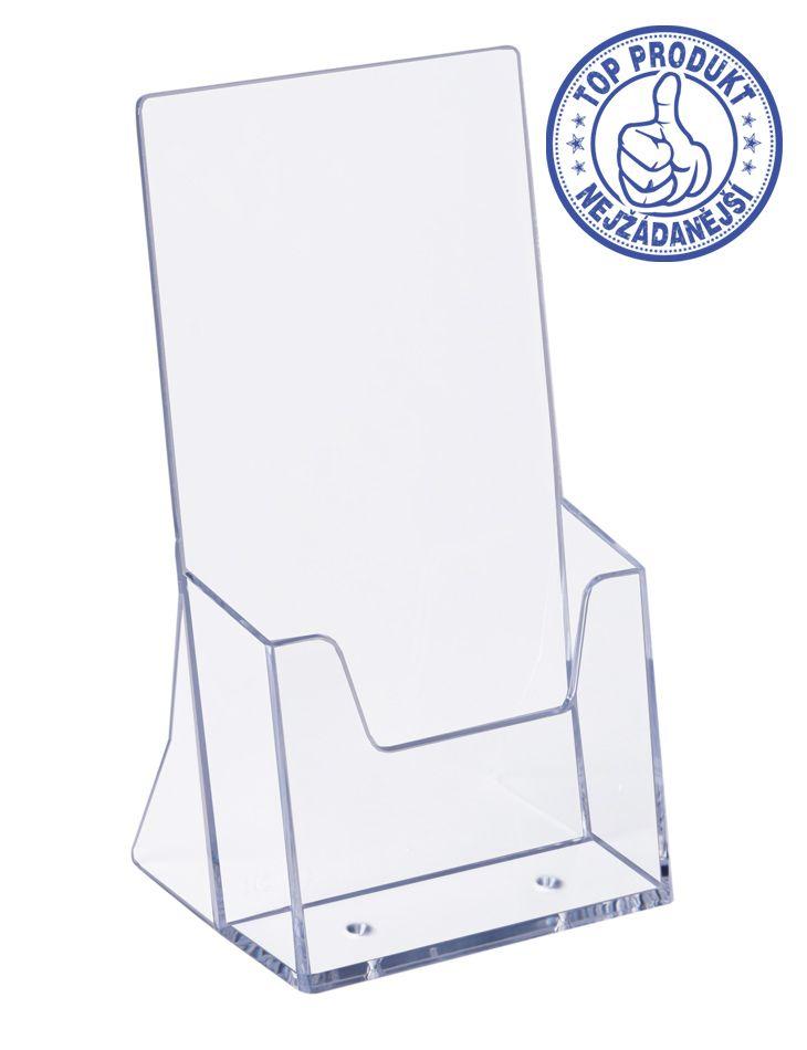 Plastový zásobník stojací na letáky formátu DL 1/3A4