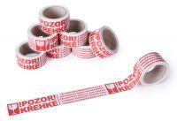 Potištěná lepící páska POZOR KŘEHKÉ zkontrolujte obsah A-Z Reklama CZ