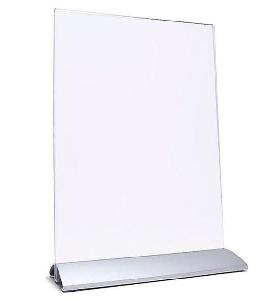 Elegantní menu stojánek se základnou DL 1/3 A4 na výšku
