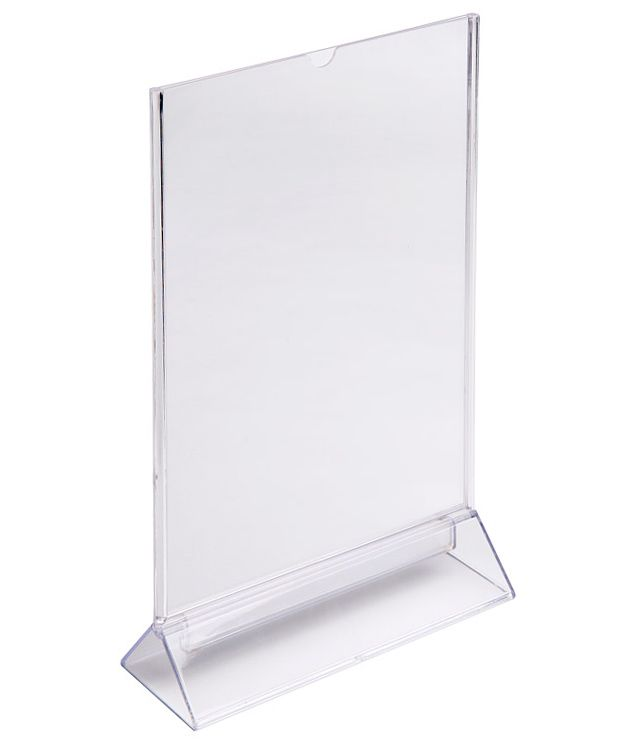 Plastový stojánek na 1 list papíru - Tvar Y A4 na výšku