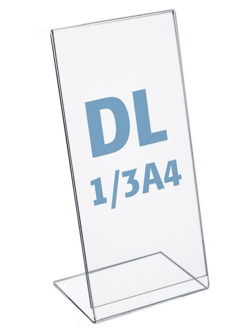 Plastový stojánek na 1 list - Tvar L - DL 1/3A4 na výšku
