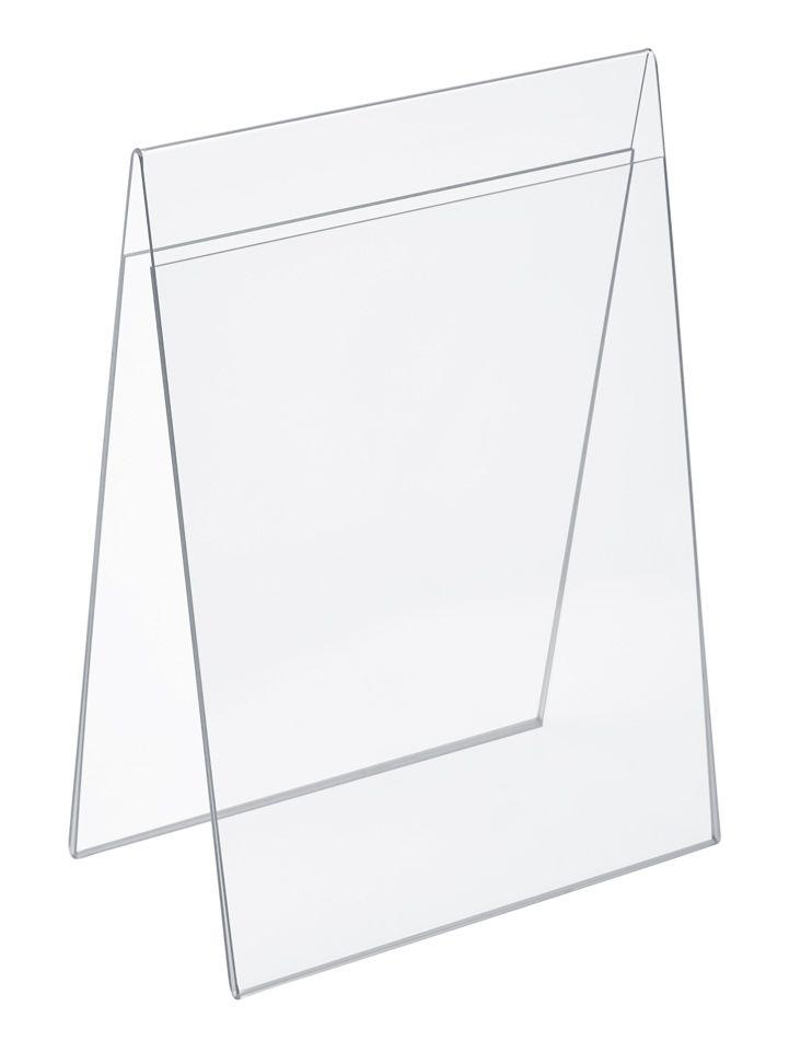 Plastový stojánek na 2 listy papíru - Tvar A A5 na výšku