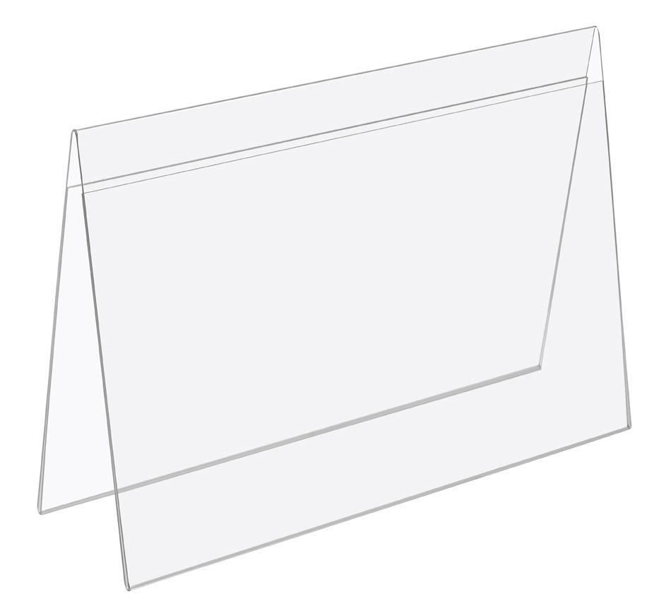 Plastový stojánek Tvar A vizitka na šířku