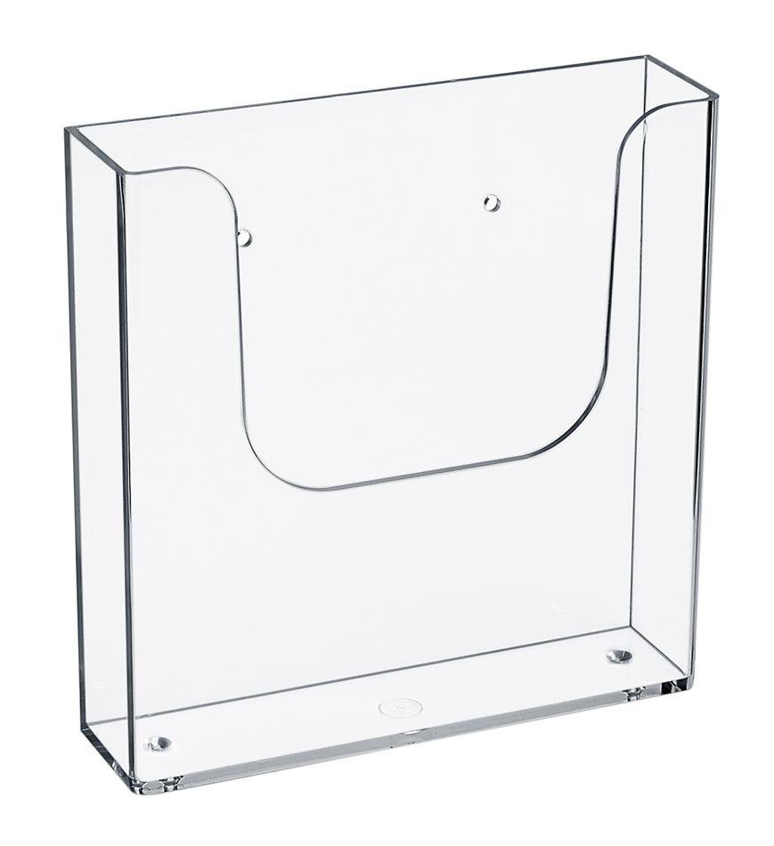 Plastový stojánek na letáky A5 na zeď