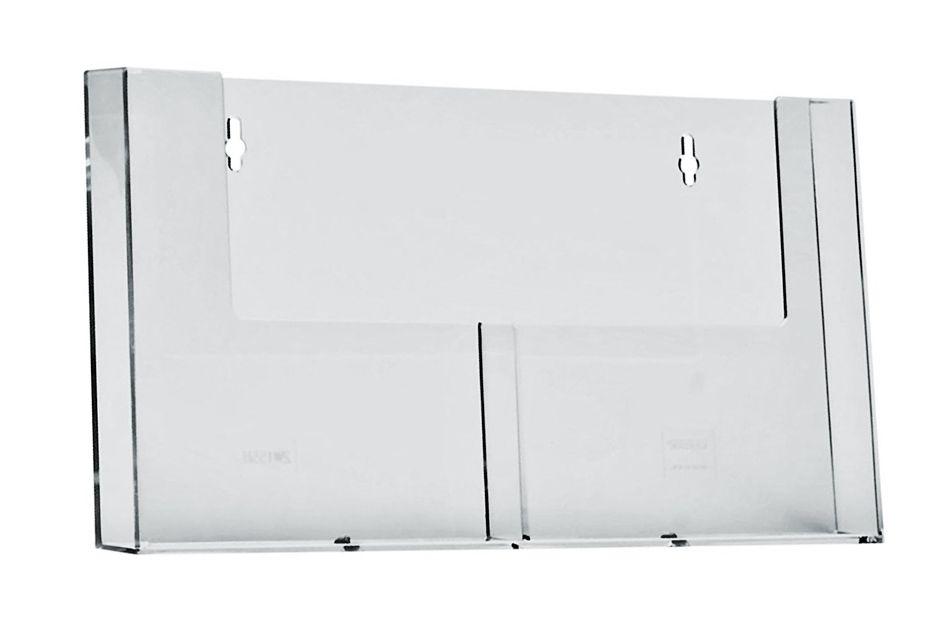 Plastový zásobník 2x A5 vedle sebe na zeď
