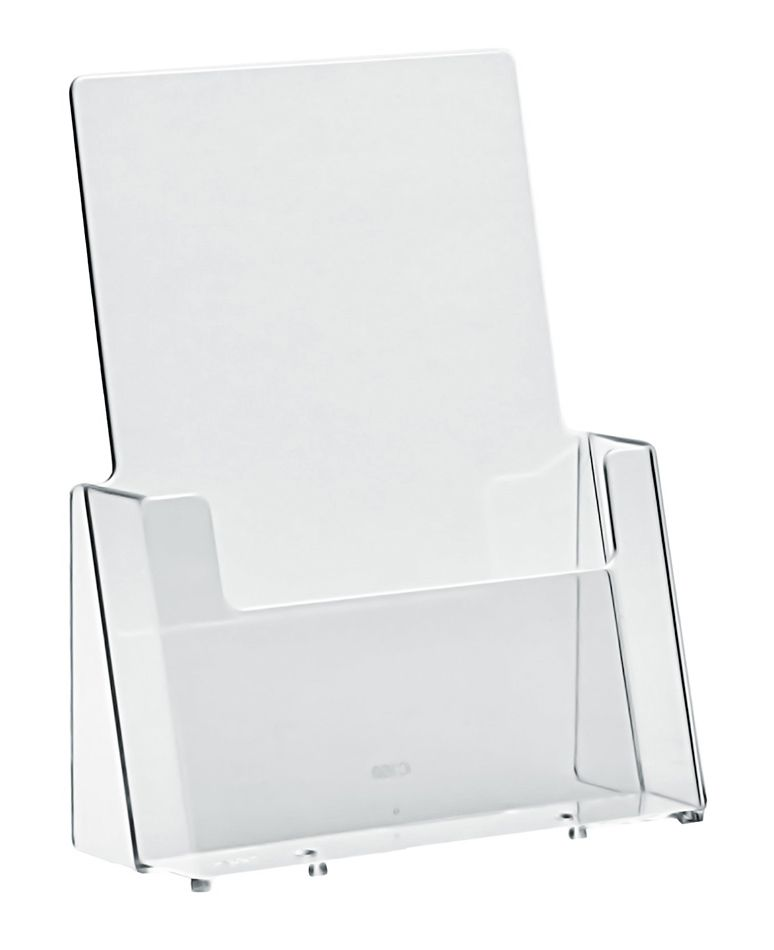Plastový zásobník na letáky A5 stojací
