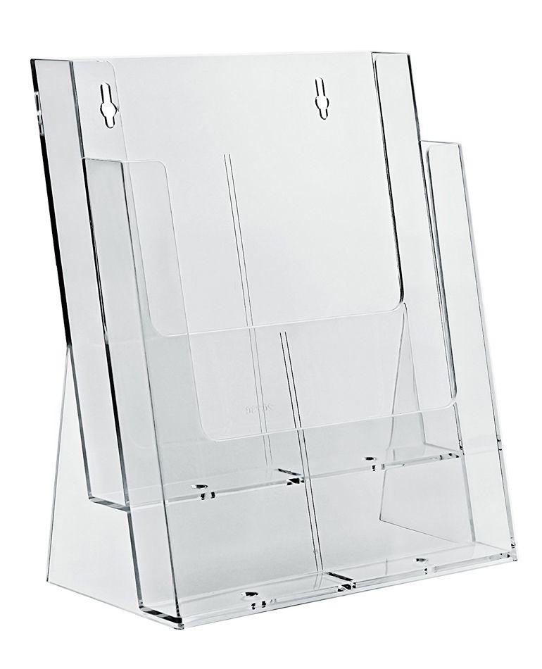 Zásobník stojánek na letáky 2x A4 nad sebou stojací