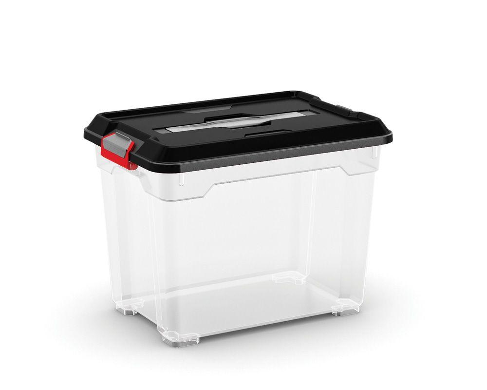 KIS Plastový úložný box - Moover Box S, černý, 82 L