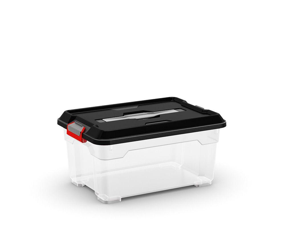 KIS Plastový úložný box - Moover Box XS, černý, 12 L