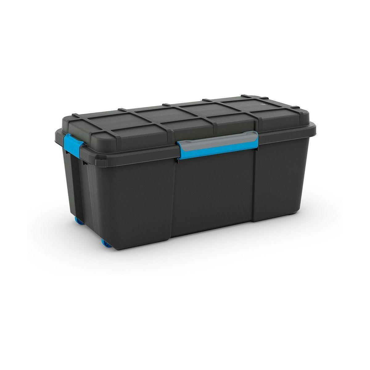 KIS Plastový úložný box - Scuba Box L, 74 L, modré zavírání