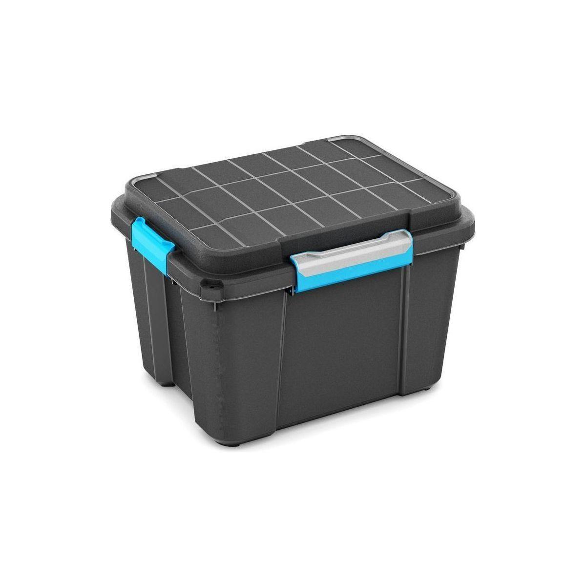 KIS Plastový úložný box - Scuba Box M, 43 L, modré zavírání