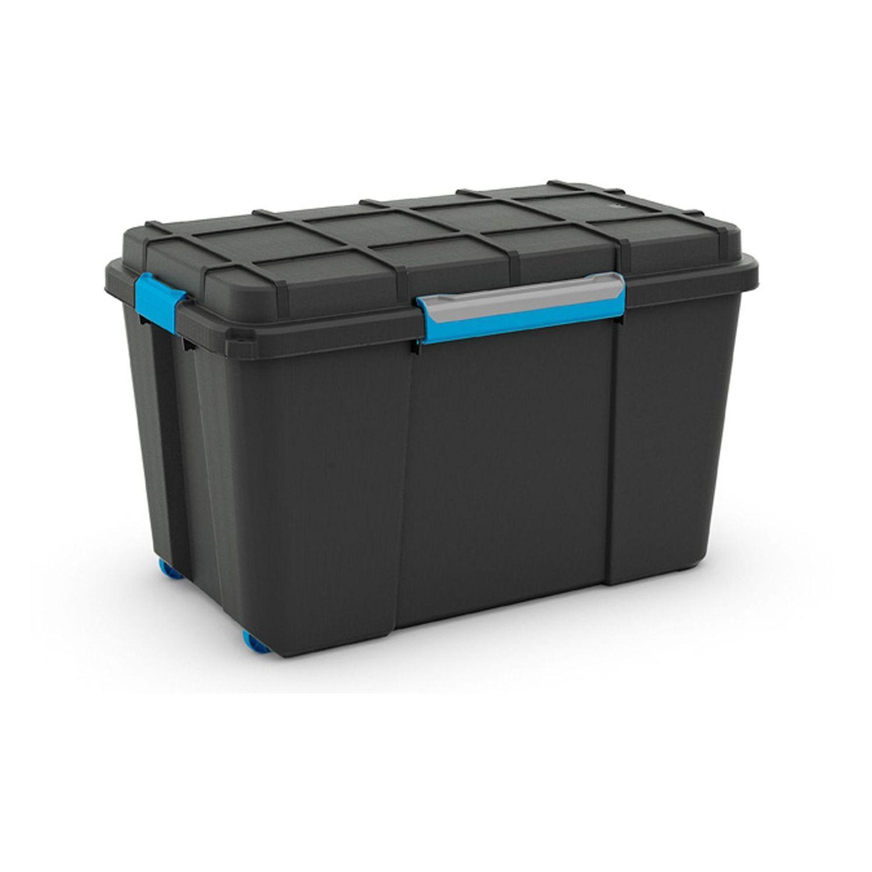 KIS Plastový úložný box - Scuba Box XL, 106 L, modré zavírání
