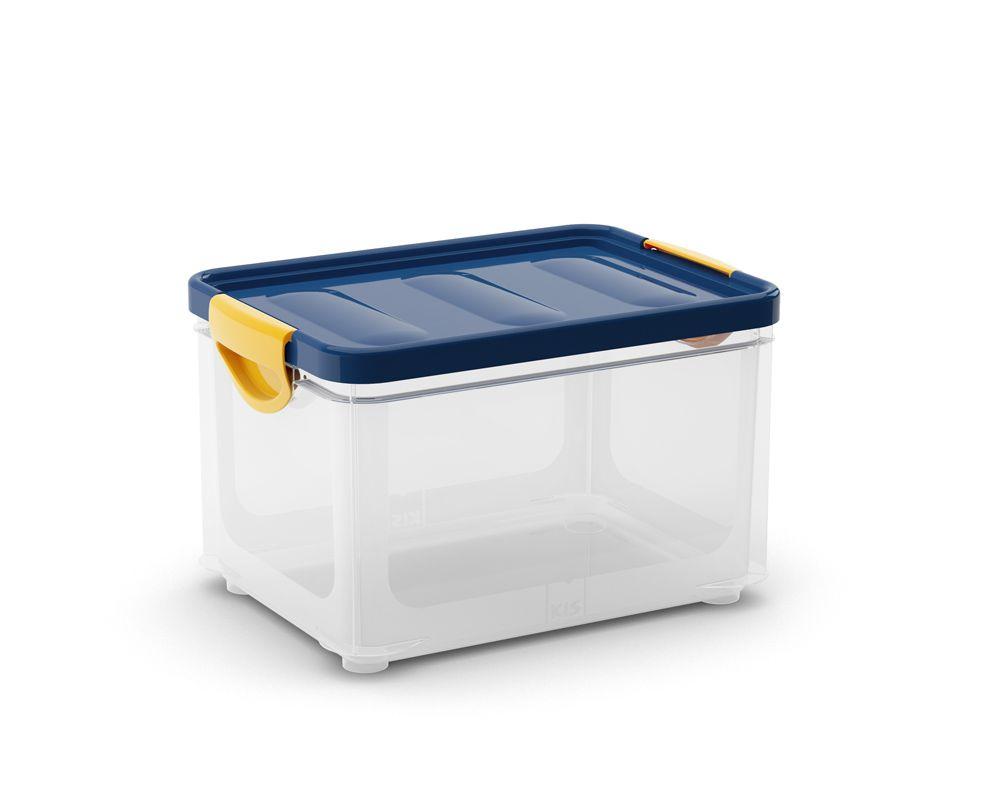 KIS Úložný box - Clipper Box S průhledný-modré víko, 5,5l