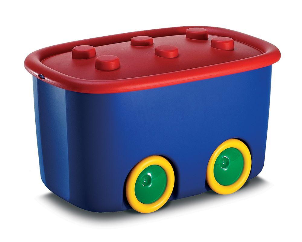 KIS úložný box na hračky - Funny box L Červený, Modrý, 46 L