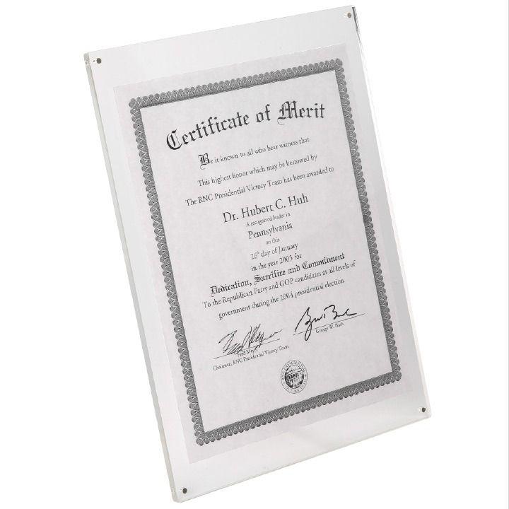 Stolní elegantní akrylový průhledný fotorámeček A4