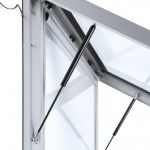 Venkovní LED světelná prémiová vitrína 1185x1750 mm A-Z Reklama CZ