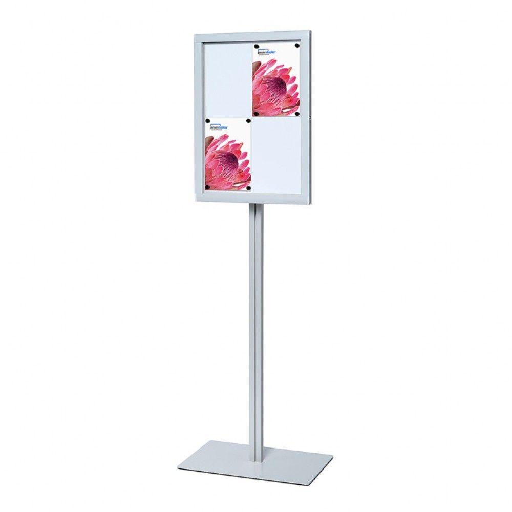 Stojící magnetická vitrína 4x A4