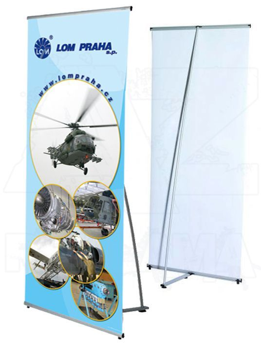 Přenosný stojan Banner display 70x200 konstrukce A-Z Reklama CZ